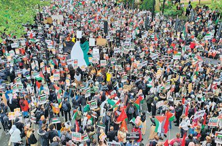 Solidarność z Palestyną na ulicach brytyjskich miast